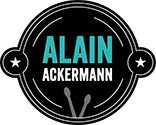 Alain Ackermann // Drummer // Drum School Logo